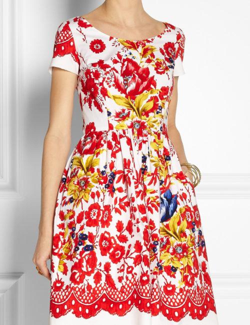 Floral cute dress