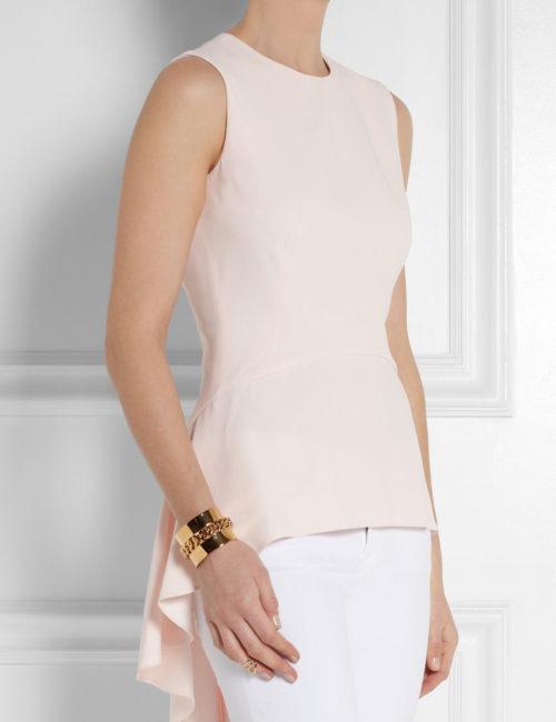 Peplum pink blouse