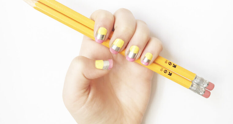 This Back To School Pencil Manicure Is Exactly What Your Kid Needs To Start The Year Off Right