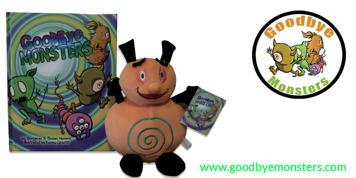Goodbye Monsters Book & Zimbobo Plush Toy Can Help When Things Go Bump In The Night