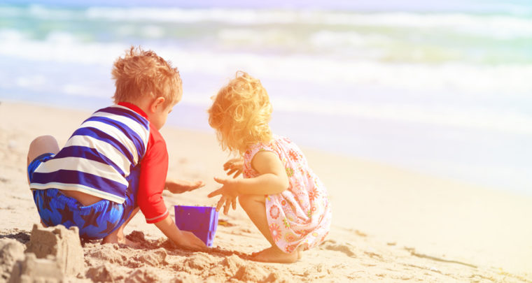 How to Get Sand Off Your Child's Skin After A Beach Day