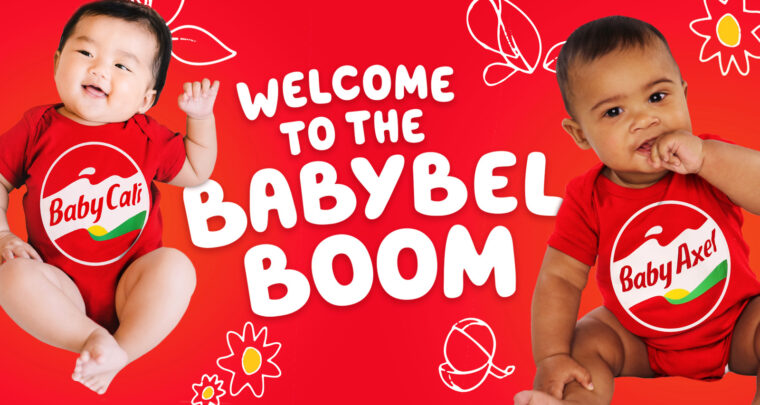 The Babybel Personalized Onesies Support Baby2Baby — And Make An Awesome Christmas Card Photo, Too